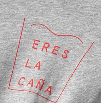 """Camiseta """"Eres la caña"""" con detalle en rojo"""