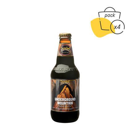 Pack Underground Mountain Brown con vasos y posavasos barrel aged