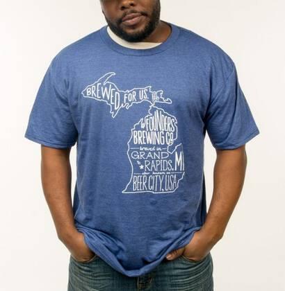 Camiseta Michigan Azul