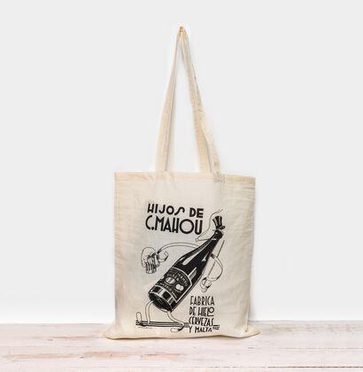 Bolsa tote Mahou con estampado Vintage Espampado
