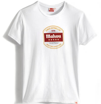 Camiseta Mahou Cinco Estrellas Blanco