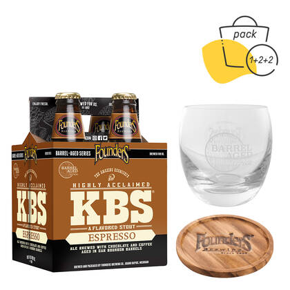 Pack KBS Expresso con vasos y posavasos barrel aged