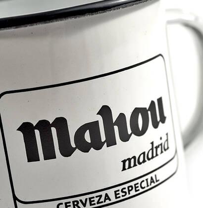Taza Mahou de peltre Logo Botijo