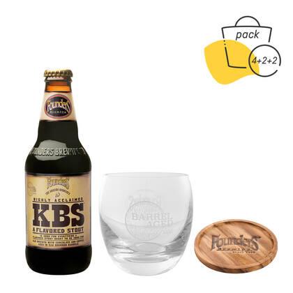 Pack KBS con vasos y posavasos barrel aged