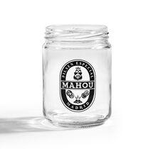 Tarro Mahou 1934 de cristal Negro